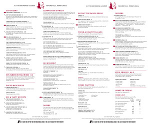 Sly Fox Menu
