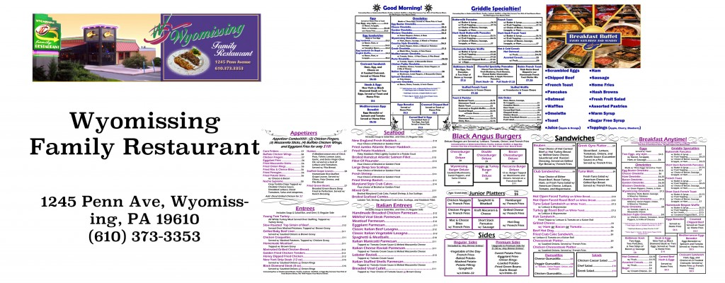 Wyomissing Family Restaurant Menu