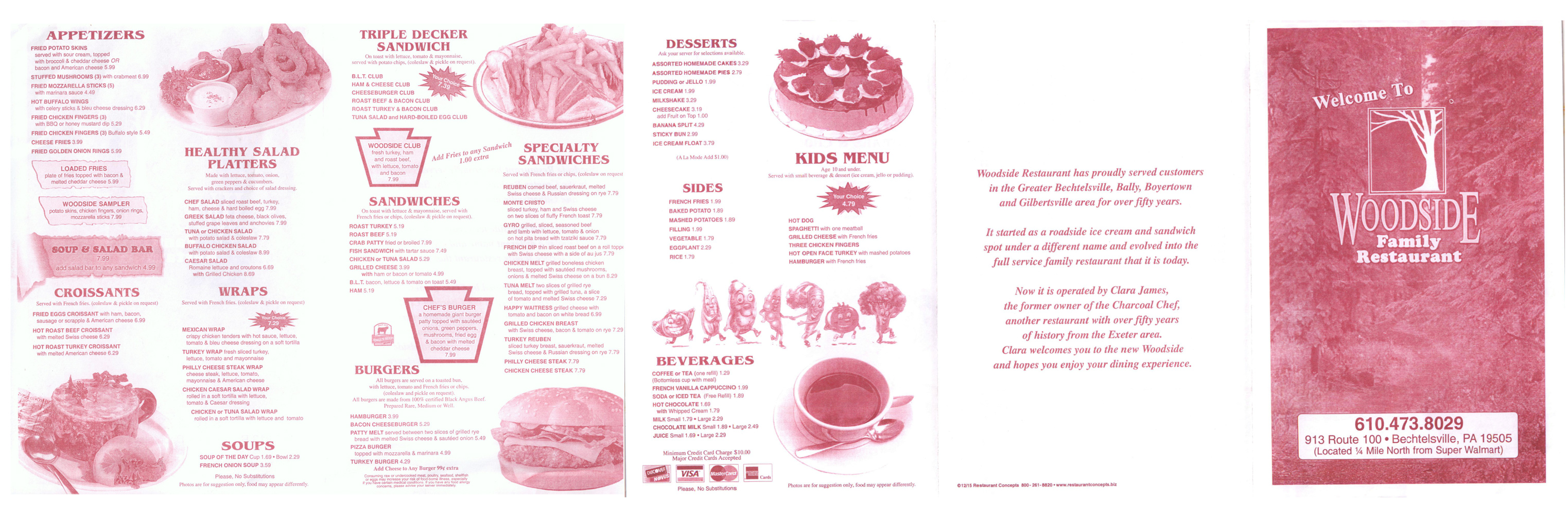 Woodside Restaurant Menu
