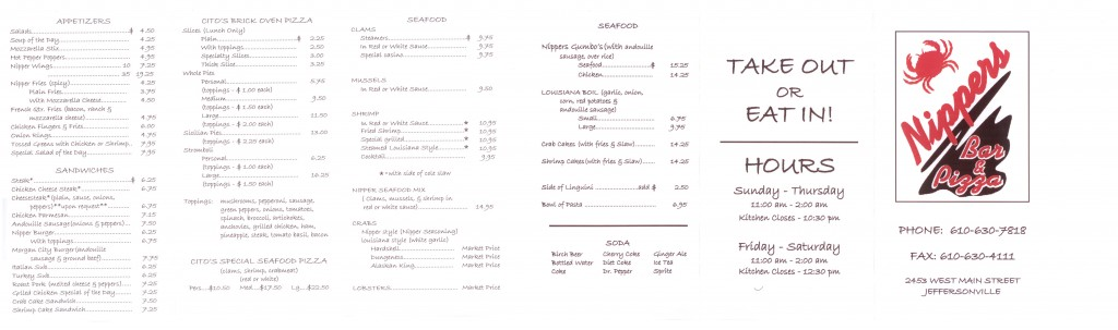 nippers menu
